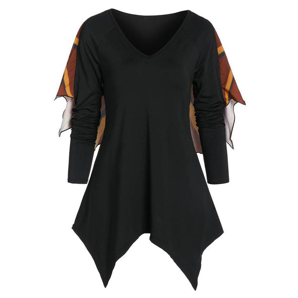 Clothing, Shoes & Accessories/Women's Clothing/Tops & Blouses---Costume Sweatshirt Women Autumn Halloween Hoodie Bat Wings Long Sleeve Print Casual Party Tops Sudadera Mujer