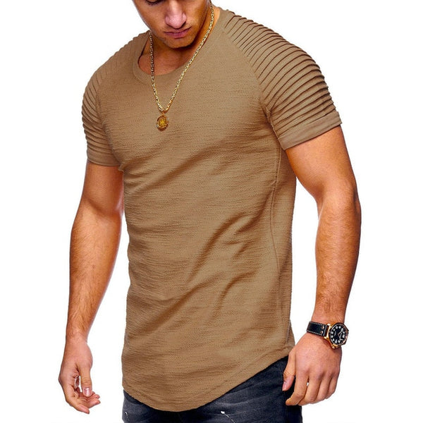 Pure cotton men's casual slim t-shirt