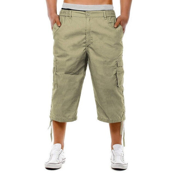 Men's Sports Shorts Multi Pocket Casual Zipper Loose Shorts