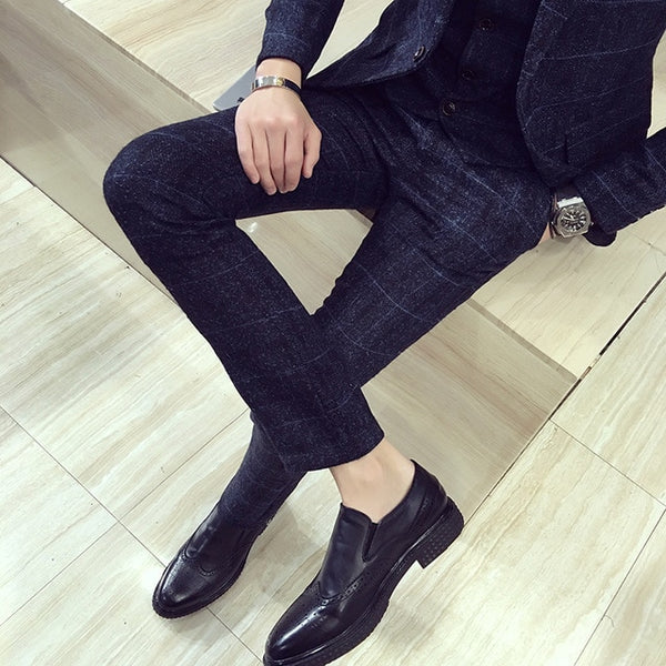 Men's trousers casual slim trousers
