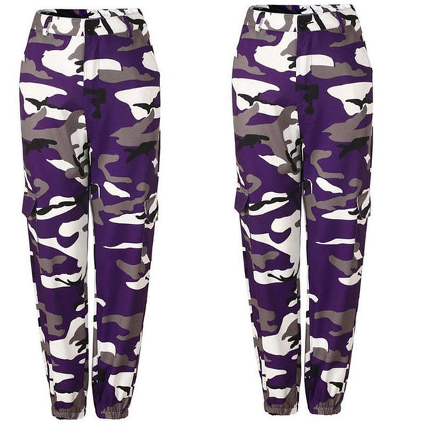 Camouflage high waist hip hop trousers camouflage trousers