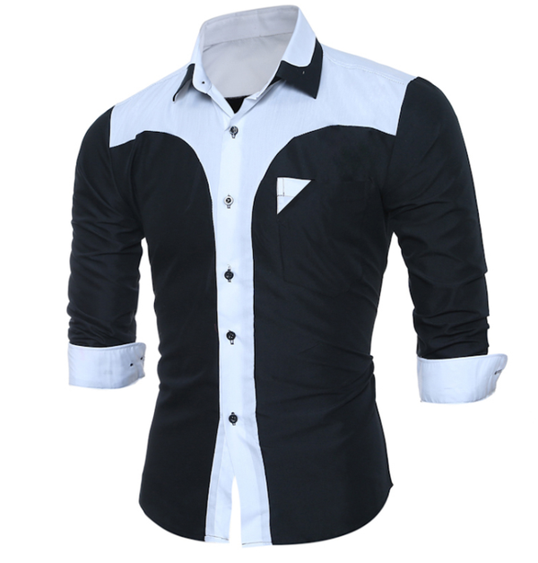 Leisure long sleeve slim men's shirt