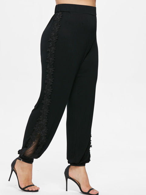 High waist casual tight size pants
