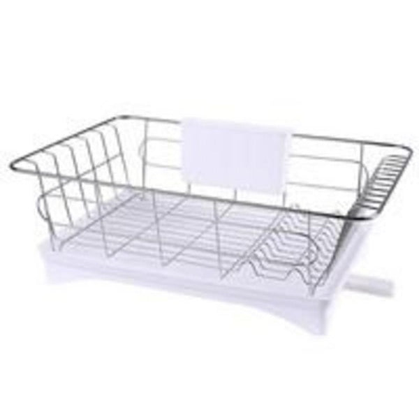 Stainless steel dish drainer drying rack 3 piece set removable
