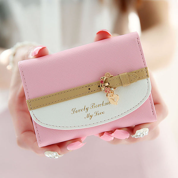Cute mini wallet elegant card bag leather fashion wallet