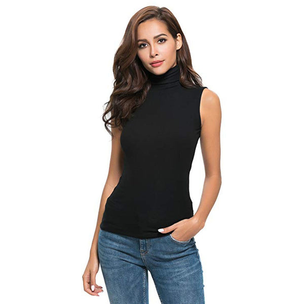 Women's Sleeveless T-shirt in Pure Color