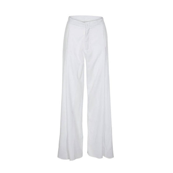 Casual large size fashion high waist loose wide leg trousers
