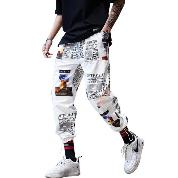 Fashion printed casual sweatpants trousers
