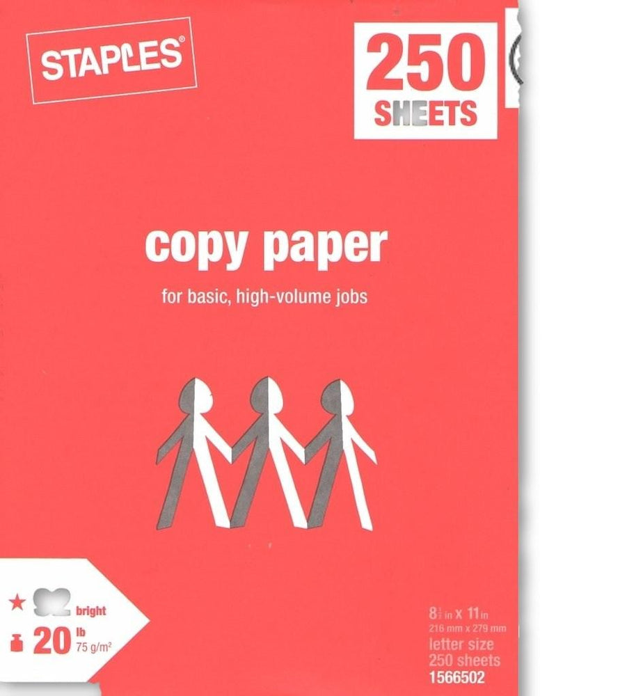 250 Sheet White Copy Paper schoollistdone.com