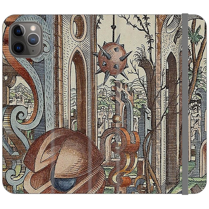 Geometric Jungle schoollistdone.com Premium Folio Wallet Satin Case (Clear PC Insert) iPhone 11 Pro Max