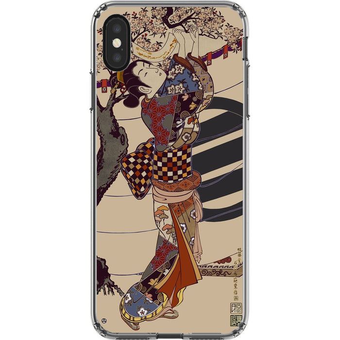Grand Geisha Premium Phone Case schoollistdone.com Premium Glossy Clear Case iPhone XS Max
