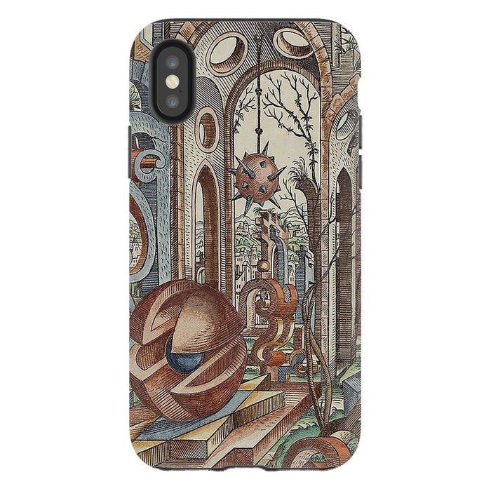 Geometric Jungle schoollistdone.com Premium Glossy Tough Case iPhone XS