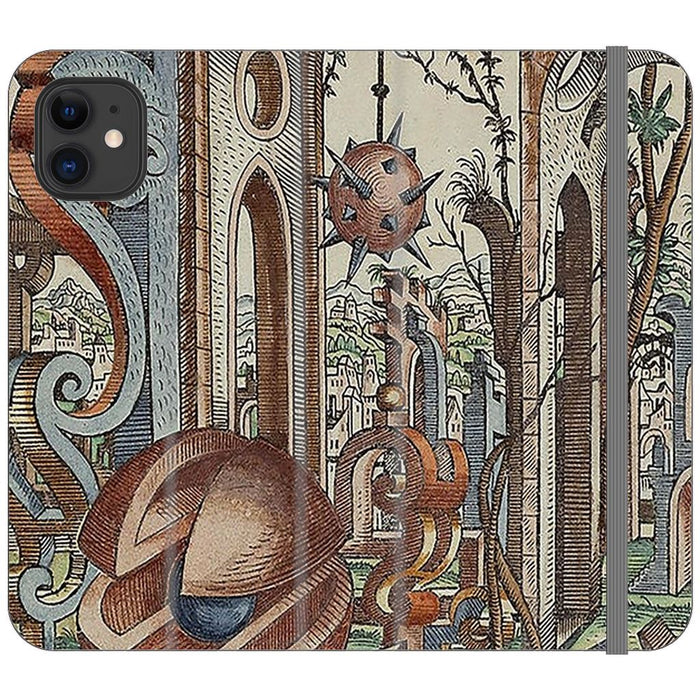 Geometric Jungle schoollistdone.com Premium Folio Wallet Satin Case (Clear PC Insert) iPhone 11