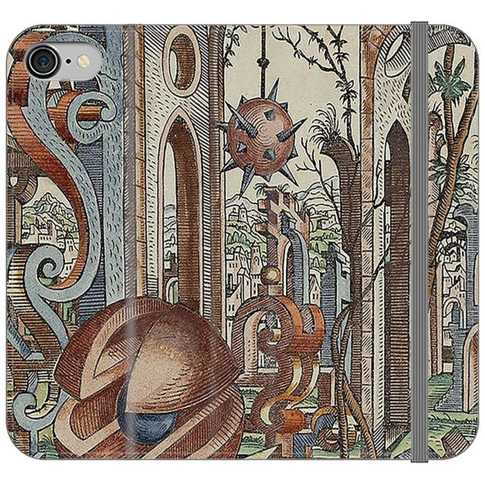 Geometric Jungle schoollistdone.com Premium Folio Wallet Satin Case (Clear PC Insert) iPhone 8