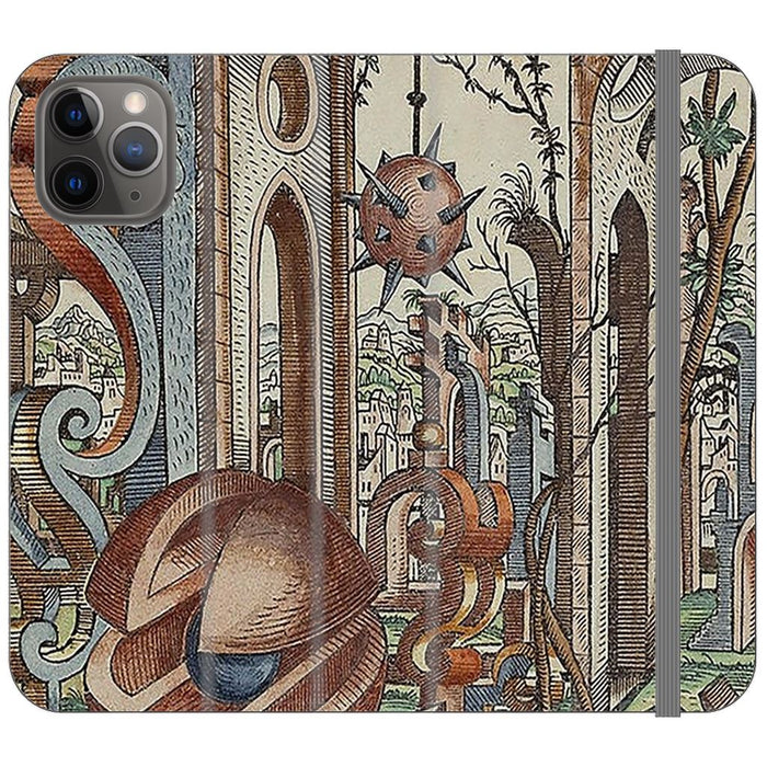 Geometric Jungle schoollistdone.com Premium Folio Wallet Satin Case (Clear PC Insert) iPhone 11 Pro