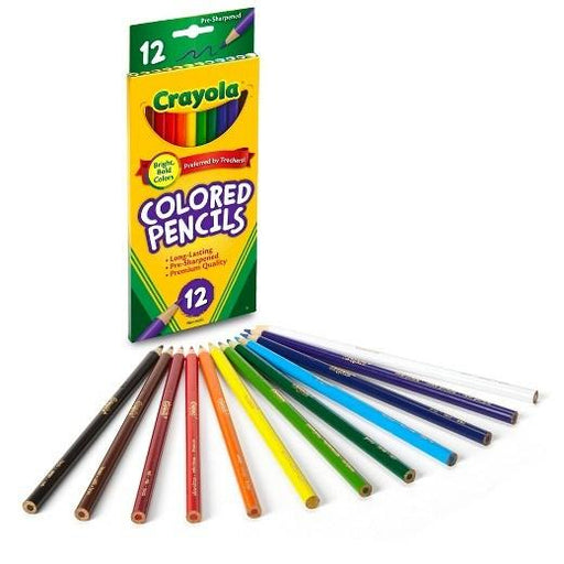 Crayola Color Pencils - 12 Pack schoollistdone.com