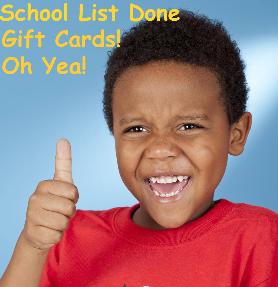 Student Gift Cards | School List Done! Gift Card schoollistdone.com