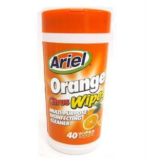 Multi-Purpose Wipes Orange Citrus 40ct schoollistdone.com