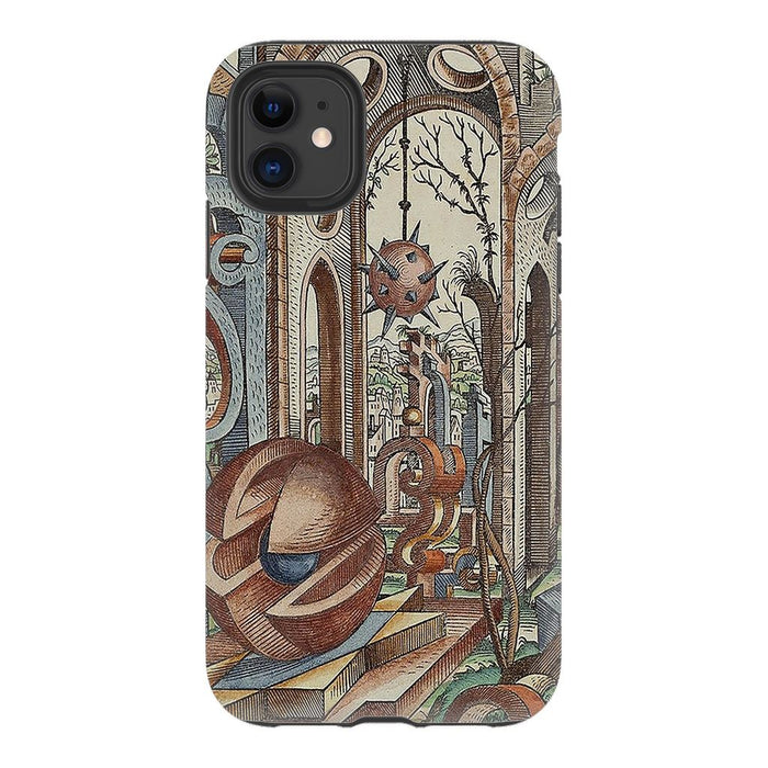 Geometric Jungle schoollistdone.com Premium Glossy Tough Case iPhone 11