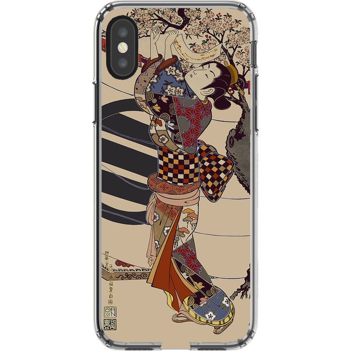 Grand Geisha Premium Phone Case schoollistdone.com Premium Glossy Clear Case iPhone XS