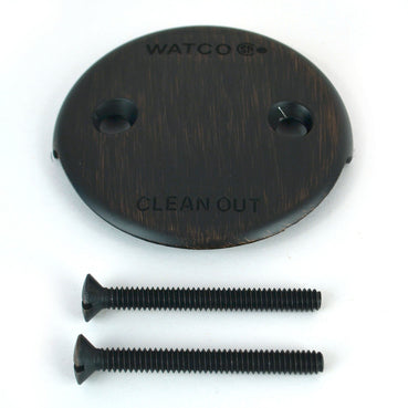18002 Two-Hole Overflow Plate Kit