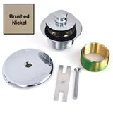 38290-BN-2H Two-hole overflow cover Trim Kit - Brushed Nickel
