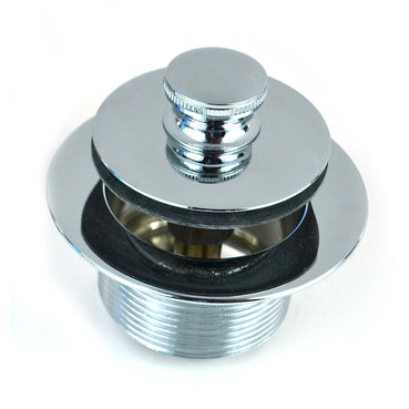 "38306-CP Push Pull® Tub Closure 1.865 in. X 11 1/2 Threads X 1.25"" - 3.00 in. Wide Flange - Chrome Plated"
