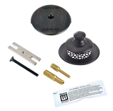 48700-PP-BZ-G-2P UNIVERSAL NUFIT® PUSH PULL® TRIM KIT - Grid Strainer - Combo Pins, Silicone - Oil Rubbed Bronze
