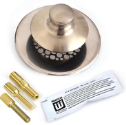 48750-PP-BN-G-3P UNIVERSAL NUFIT® Push Pull - Grid Strainer - Silicone, All 3 Threaded Adapter Pins  - Brushed Nickel