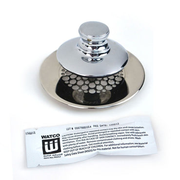 Universal NuFit® Push Pull® Bathtub Stopper with Grid Strainer - Perfect for Volume Projects