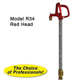 Model R34 Yard Hydrant 1' to 5' Bury