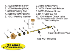RK-17MH Model 17 Faucet Repair Kit