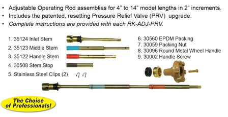 RK-ADJ-PRV Upgrade the Model 14, 16, 17, 19, 22 and V22 to PRV 4-in to 14-in model lengths