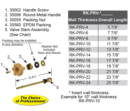 RK-PRV-18 PRESSURE REDUCING VALVE REPAIR KIT 18 Inch