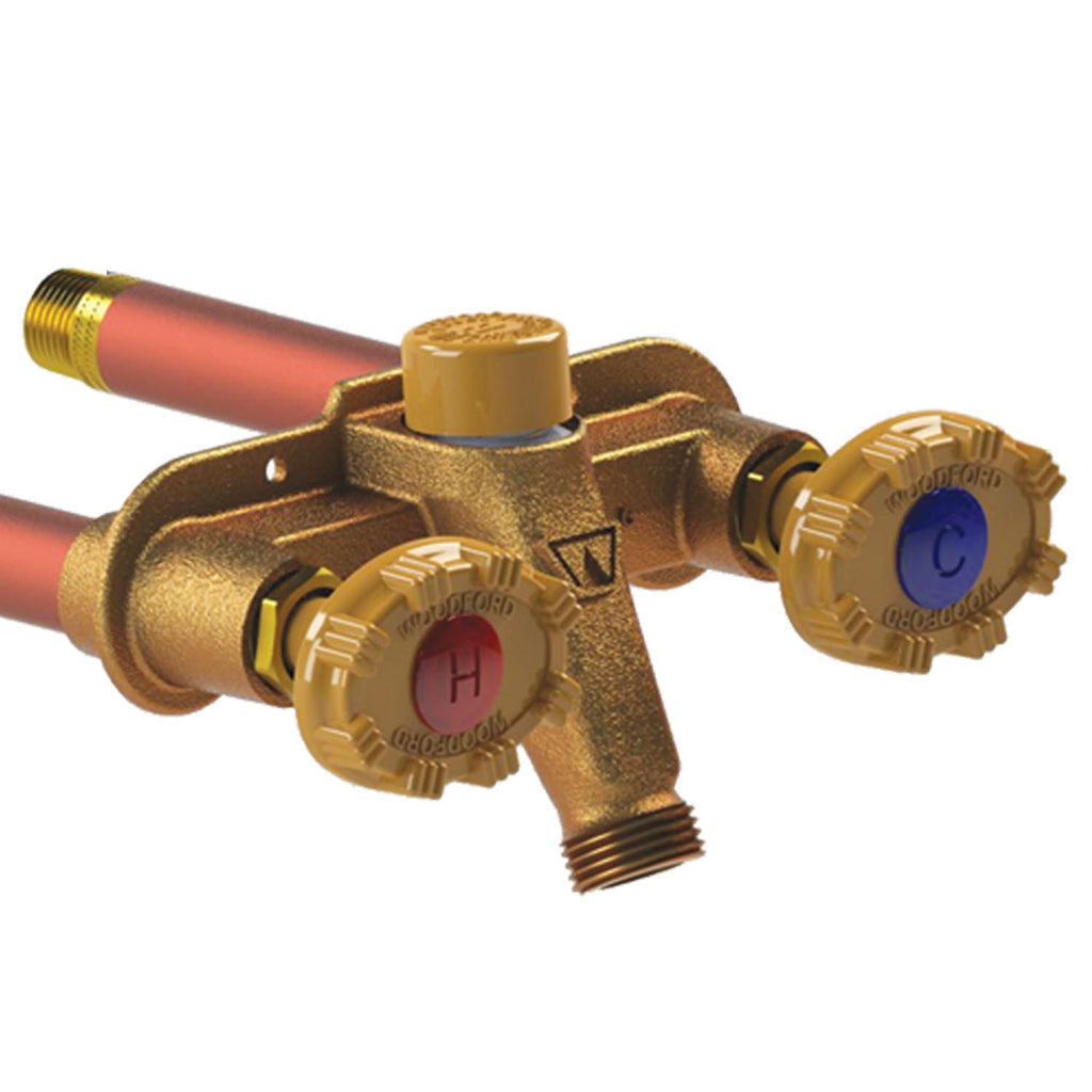 Woodford Model 22 Hot And Cold Outdoor Faucet