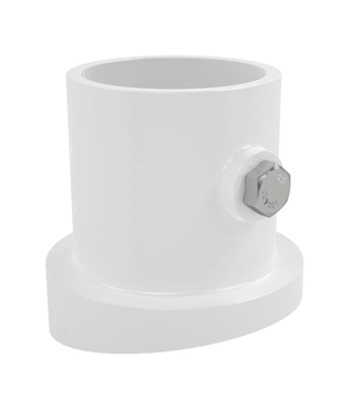 "PF-2119-SL 1.9"" White Sloping Ladder Flange"