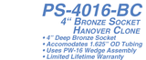 PS-4016-BC 4 in. Anchor Bronze Hanover Socket -Clone for 1.625 in. Rail