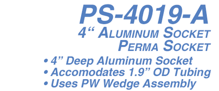 PS-4019-A Ladder Socket 4 in. Aluminum For 1.9 in. Rail