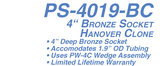 PS-4019-BC 4 in. Hanover Socket Bronze for 1.9 in. Rail