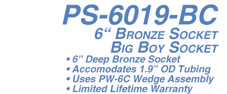 PS-6019-BC Big Boy Socket- 6 in. Anchor Bronze for 1.9 in. Rail