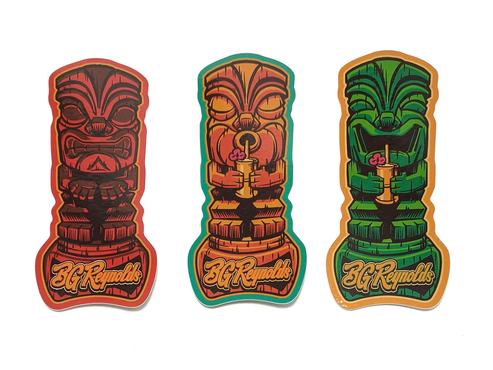 Thirsty Trio Tiki stickers