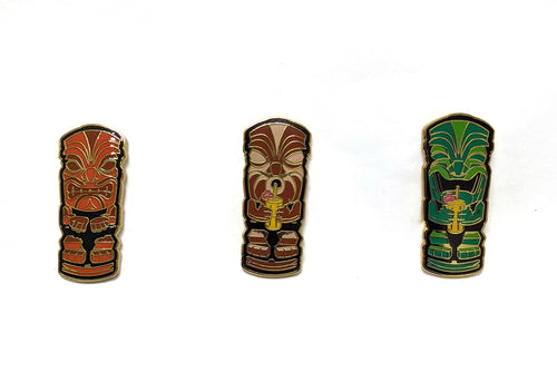 Thirsty Trio Tiki Pins