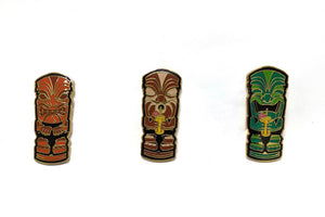 Load image into Gallery viewer, Thirsty Trio Tiki Pins