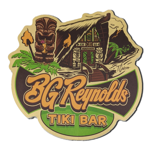 BG Reynolds Tiki bar sticker