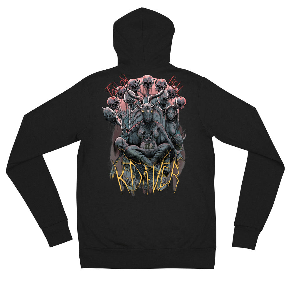 Follow Me To Hell - Unisex zip hoodie