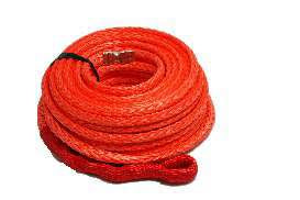 Synthetic Winch Rope Orange - 10mm x 30m