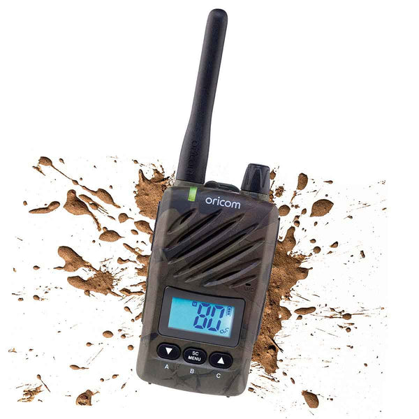 Oricom ULTRA550 CAMO Waterproof 5 Watt Handheld UHF CB Radio