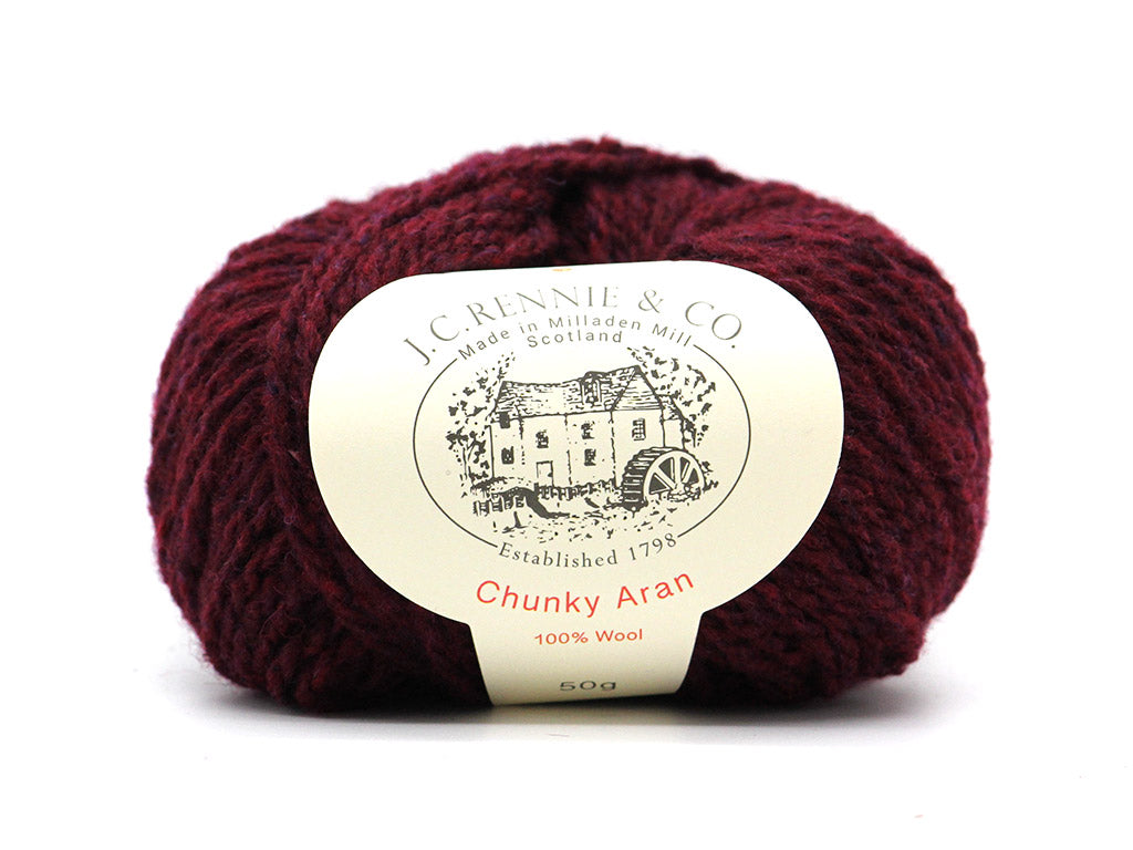 Chunky Aran - Bordeaux Mix 1834