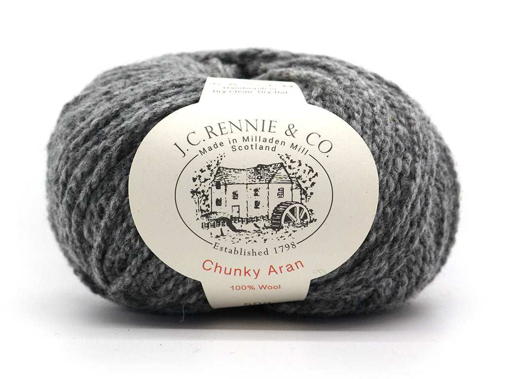Chunky Aran - Medium Grey 030