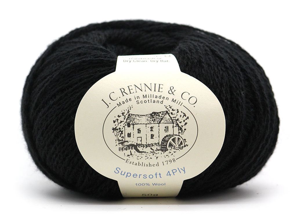 Supersoft 4ply - Black 090